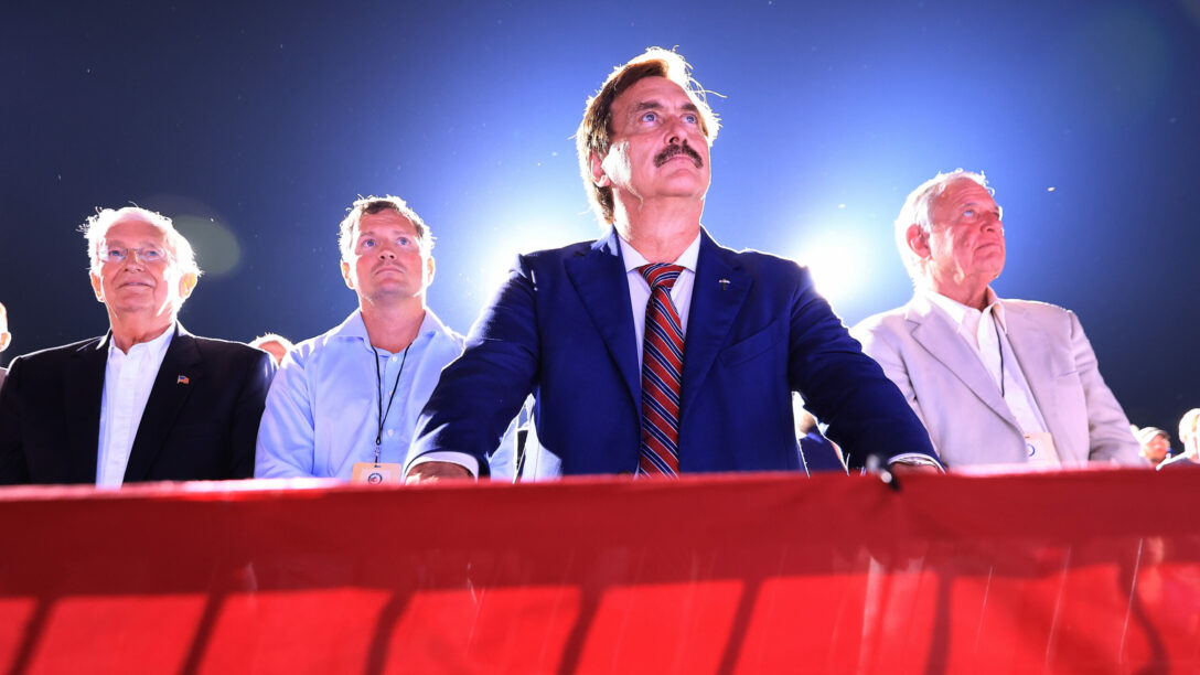 My Pillow CEO and conspiracy theorist Mike Lindell.