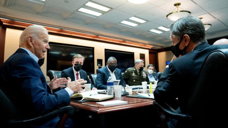 Joe Biden meets his National Security team