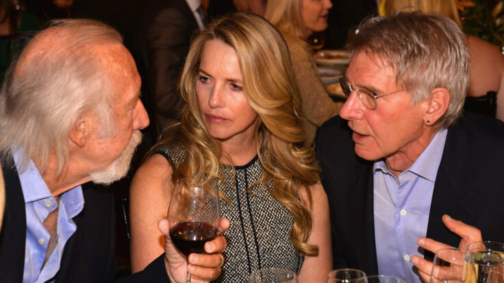 Laurene Powell Jobs and actor Harrison Ford